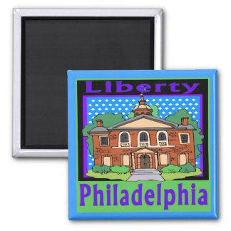 Philadelphia Liberty 2 Inch Square Magnet