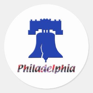 Philadelphia Liberty Bell Pegatina Redonda