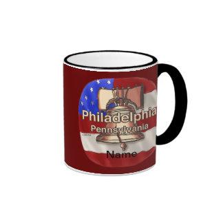 Philadelphia Liberty Bell Taza De Dos Colores