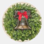 Philadelphia Liberty Bell Wreath on Parchment Sticker