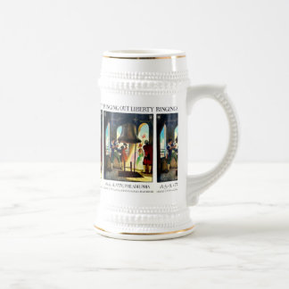 Philadelphia Liberty on The Pennsylvania Railroad Beer Stein