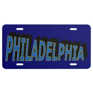 Philadelphia License Plate (blue blue-gold)