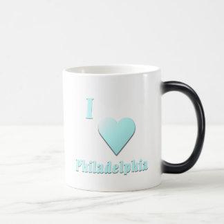 Philadelphia -- Light Blue Magic Mug