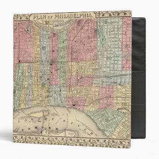 Philadelphia Map by Mitchell 3 Ring Binder