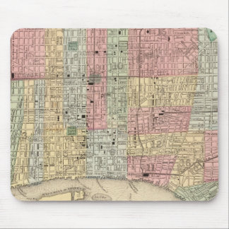 Philadelphia Map by Mitchell Mouse Pad