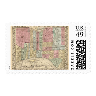 Philadelphia Map by Mitchell Postage
