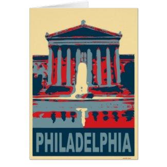 Philadelphia Museum in Blue card