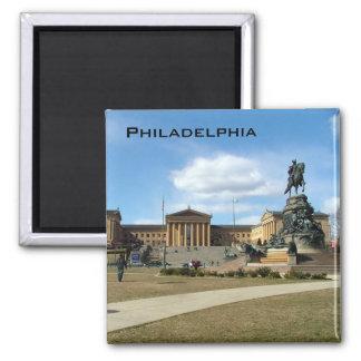 Philadelphia Museum of Fine Arts 2 Inch Square Magnet