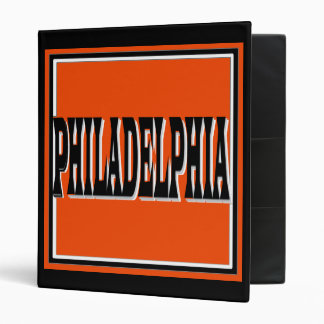 Philadelphia Orange Binder