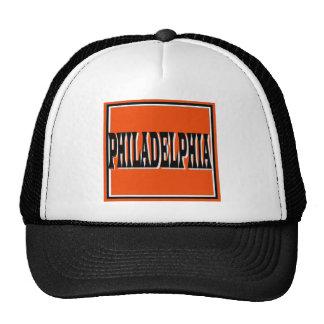Philadelphia Orange Square Cap Trucker Hat