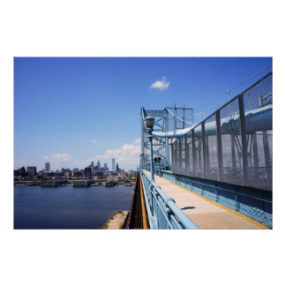 Philadelphia over the bridge poster