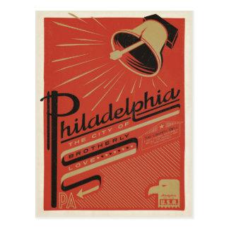 Philadelphia, PA - amor fraternal Postales