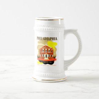 Philadelphia Pa. Carpenters Hall, WPA 1936 Beer Stein