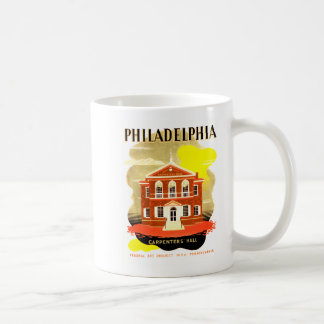 Philadelphia Pa. Carpenters Hall, WPA 1936 Coffee Mug