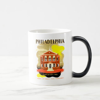 Philadelphia Pa. Carpenters Hall, WPA 1936 Magic Mug