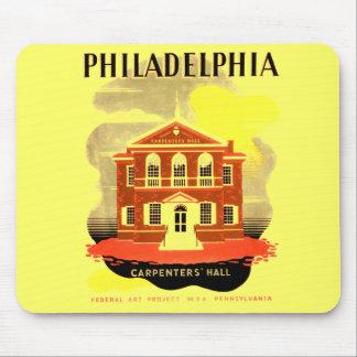 Philadelphia Pa. Carpenters Hall, WPA 1936 Mousepads