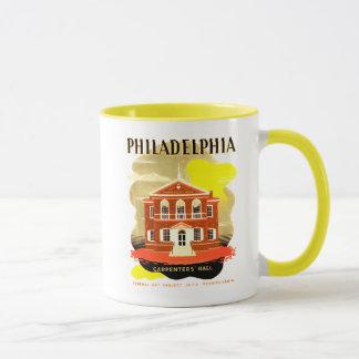 Philadelphia Pa. Carpenters Hall, WPA 1936 Mug