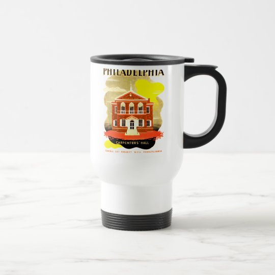 Philadelphia Pa. Carpenters Hall, WPA 1936 Travel Mug
