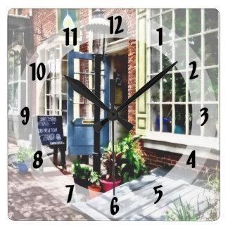 Philadelphia Pa Coffeehouse Square Wall Clock