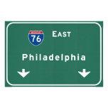 Philadelphia pa Interstate Highway Freeway Road : Photo Print