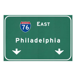 Philadelphia pa Interstate Highway Freeway Road : Photo Print