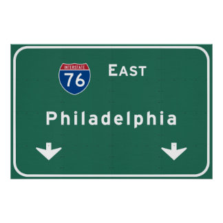 Philadelphia pa Interstate Highway Freeway Road : Poster