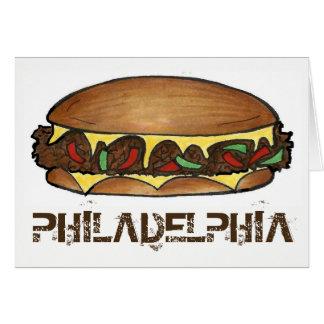 Philadelphia PA Philly Cheese Steak Sandwich Food Card