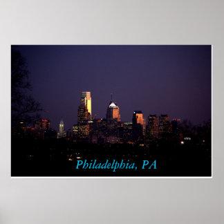 Philadelphia PA skyline poster