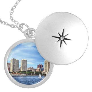 Philadelphia Pa Skyline Silver Plated Necklace