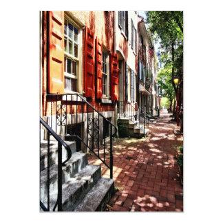 Philadelphia PA Street With Orange Shutters Card