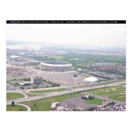 Philadelphia PA Veterans Stadium Aerial View Post Card