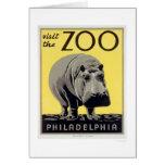 Philadelphia PA Zoo Hippo 1936 WPA