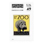 Philadelphia PA Zoo Hippo 1936 WPA Postage Stamps