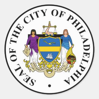 Philadelphia Etiquetas Redondas