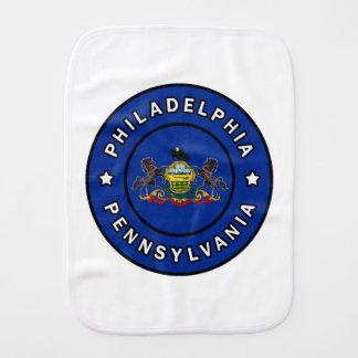 Philadelphia Pennsylvania Baby Burp Cloth