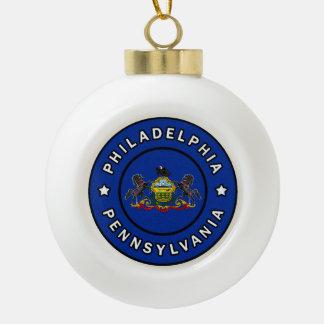 Philadelphia Pennsylvania Ceramic Ball Christmas Ornament