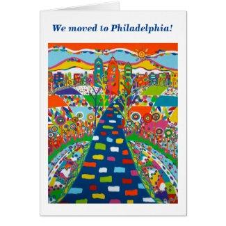 Philadelphia, Pennsylvania Change of Address Card