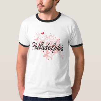 Philadelphia Pennsylvania City Artistic design wit T Shirt