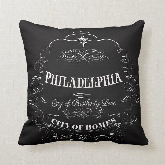 Philadelphia Pennsylvania - City of Brotherly Love Throw Pillow