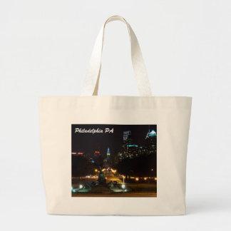 Philadelphia Pennsylvania, Downtown at night Tote Bags