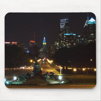 Philadelphia Pennsylvania, Downtown at night Mouse Pad