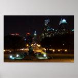 Philadelphia Pennsylvania, Downtown at night. Print
