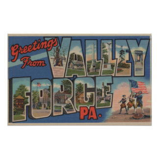 Philadelphia, Pennsylvania - fragua del valle Póster