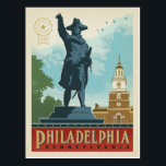 "Philadelphia, Pennsylvania | Independence Hall Postcard<br><div class=""desc"">Anderson Design Group is an award-winning illustration and design firm in Nashville,  Tennessee. Founder Joel Anderson directs a team of talented artists to create original poster art that looks like classic vintage advertising prints from the 1920s to the 1960s.</div>"