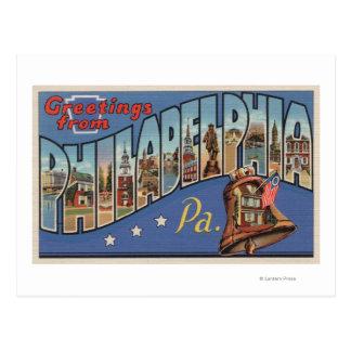 Philadelphia, Pennsylvania - Large Letter Postcard