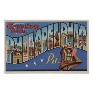 Philadelphia, Pennsylvania - letra grande Póster