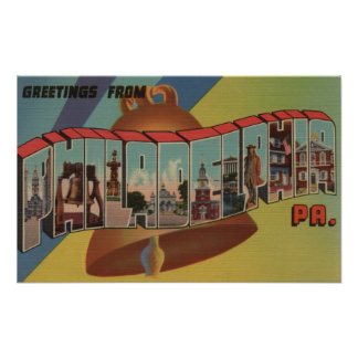 Philadelphia Pennsylvania Liberty Bell Poster