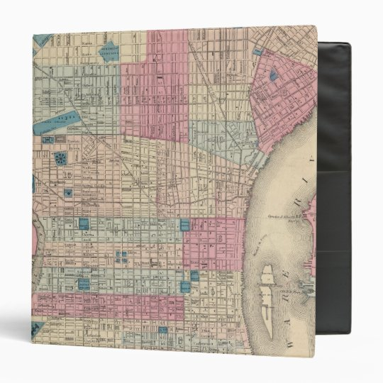 Philadelphia, Pennsylvania Map 3 Ring Binder
