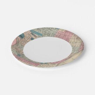 Philadelphia, Pennsylvania Map Paper Plate
