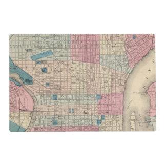 Philadelphia, Pennsylvania Map Placemat